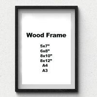 Natureza sólida simples quadro de madeira a4 a3 preto branco cor de madeira quadro foto com esteiras para montagem na parede ferragem incluído Molduras Casa e Jardim -