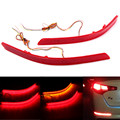 2pcs 46LED Red/Amber Brake Tail Light Lens Rear Bumper Reflector Brake DRL Fog Light Lamp For KIA Optima K5 2014 2015
