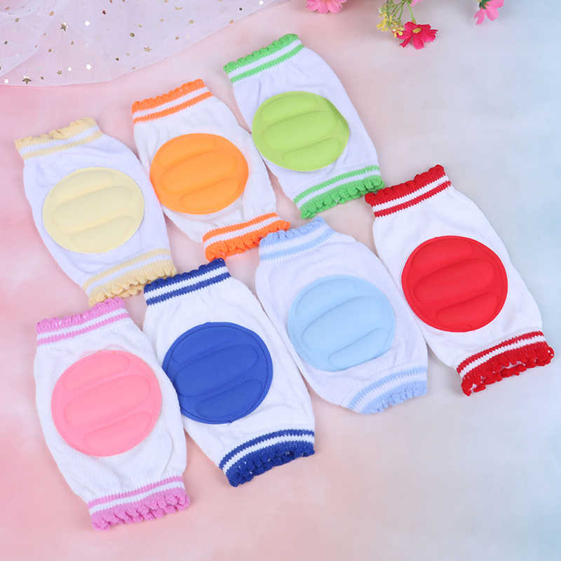 Baby Kneepad Cozy Cotton Breathable Sponge Children Knee Pads Doll Learn To Walk Infant Knee Protector Random Color