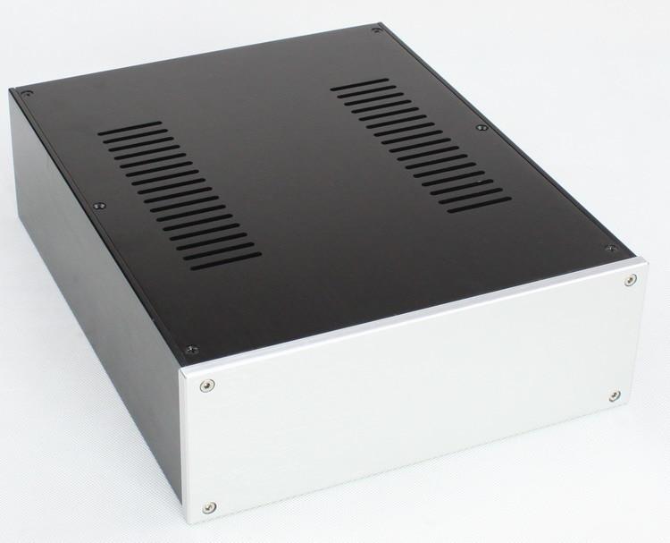 WA106 Aluminum enclosure Preamp chassis Power amplifier case box size 380 250 92mm