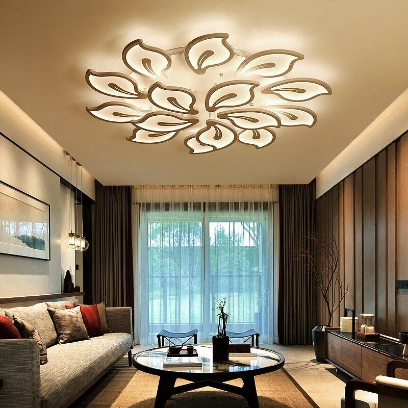 Креативная акриловая Светодиодная потолочная лампа цветочного типа для дома, гостиной, спальни, кабинета, прохода, потолочное освещение, коммерческое освещение