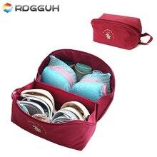 RDGGUH New Fashion Women's Travel Necessarie Bags Waterproof Bra Bag Nylon Zip Box Women Clothing Underwear Organizer Carry Bag