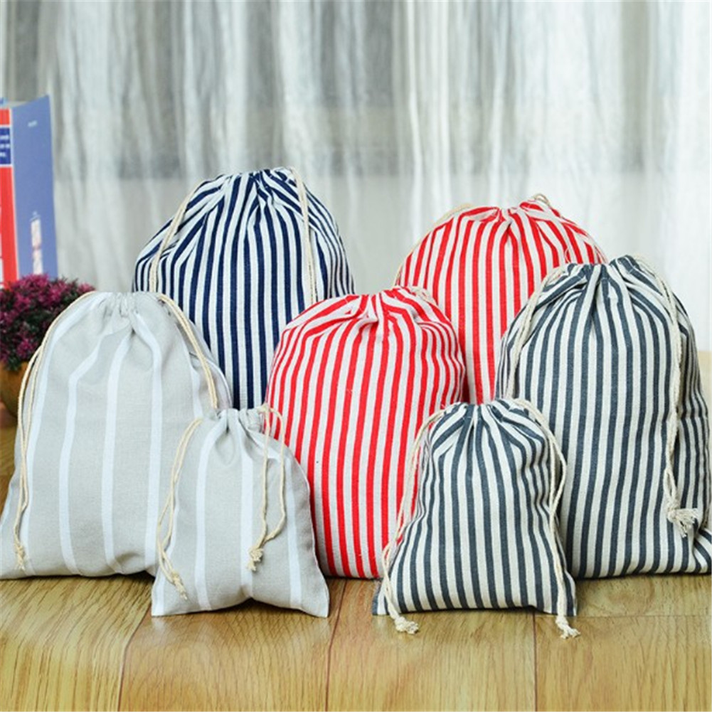 Handmade Cotton Drawstring Bag Men Women Travel Packing Organizer Reusable Shopping Bag Tote Female Luggage Storage Pouch