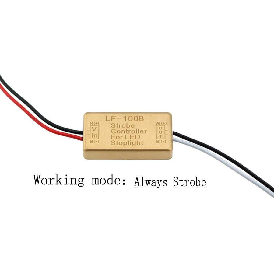 Gfoloza контроллер вспышки для автомобиля светодиодный задний стоп-сигнал Быстрый Медленный Flasher кабель 12-24 В автомобильные аксессуары 1 шт.