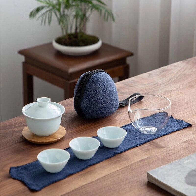TANGPIN Celadon Ceramic Gaiwan Tea Cup For Puer Chinese Kung Fu Travel Tea Set Drinkware