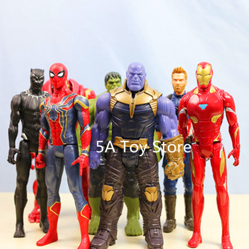 Marvel Avengers 3 Infinity War Action Figure Super Heros Black Panther Thanos Ironman Spiderman Hulk Hulkbuster PVC Figure Toy marvel avengers infinity war thanos ironman spiderman thor captain american venom hulk black panther figure vinyl model toys