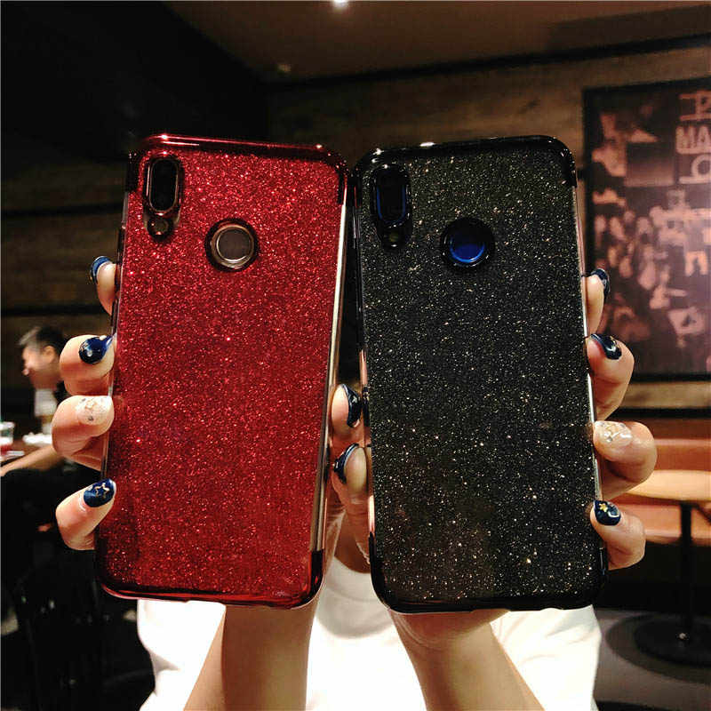Glitter Frame TPU Phone Cases For Huawei P20 Lite Cover P10 P9 P8 Mate 10 Nova 2 3 Honor 9 7X 8X Y6 Prime Y9 2018 Silicone Case
