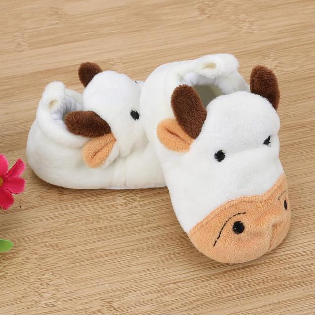 24d0ff506c65 Baby Shoes Infant Toddler Crib Shoes Soft Sole Cartoon Rabbit Cow Print Kid  Girls Boy Baby