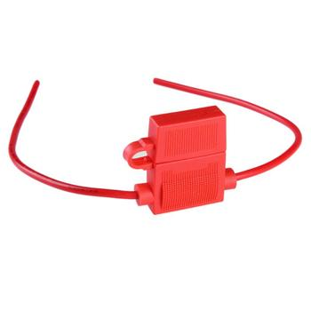 1Pcs Medium Standard Waterproof ATO ATC Inline 16WAG Blade Fuse Holder Red High Quality Accessory Auto Automotive Car Blade Fuse image