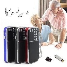 Mini Portable Speakers for Elderly Y-501 Digital Stereo FM Mini Radio Speaker Music Player with TF Card USB AUX Input Sound Box