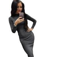 Wankou 2018 Sexy Spring Women Dress Casual Bodycon Black Midi Dress Elegant Slim Package Hip Female