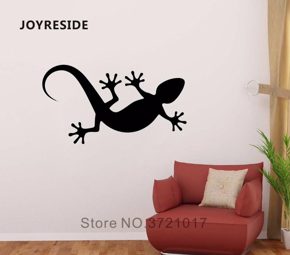 Vinyl Wall Decal Gecko Reptile Jungle Theme Decor Tropical Florida Fun Lizard