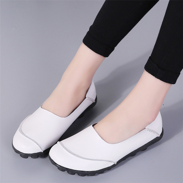 Women's Flats Pure Color Soft Bottom Shoes Soft Slip-On Casual Boat Shoes Chaussure Femme Talon Schoenen Vrouw Zapatos Mujer