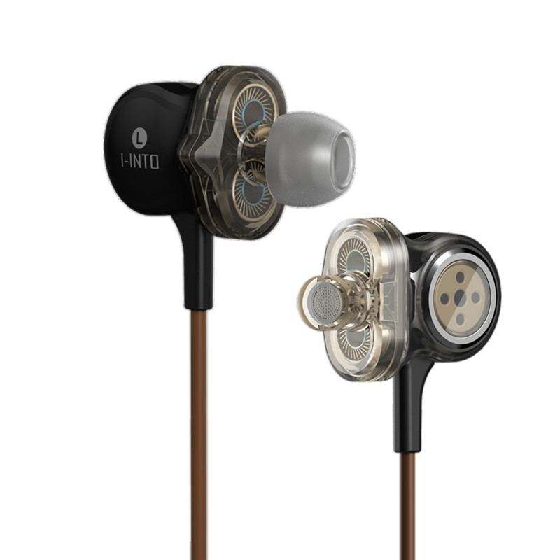 NEW I-INTO i8 Dynamic Earphone 6 Unit <font><b>Drive</b></font> HIFI Bass Subwoofer 3.5mm In Ear wire earbuds with six loudspeakers