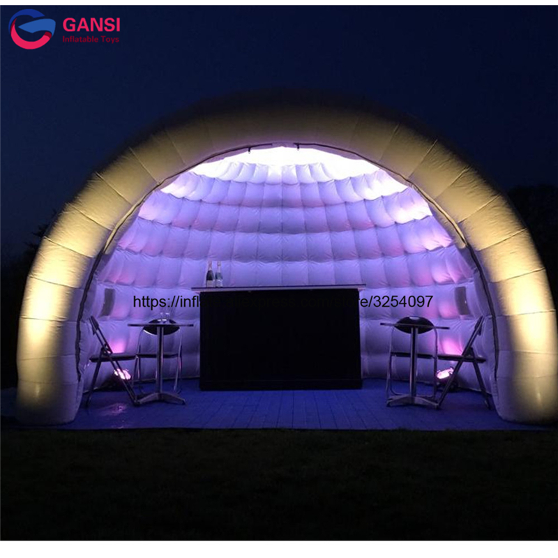 Bubble inflatable yurt tent with LED light for party air