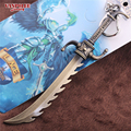 League of Legends Game Keychain Jagged Sword Master Yi Weapon Sword 12cm Metal Pendant Key Ring LOL Keychain Within Display Box