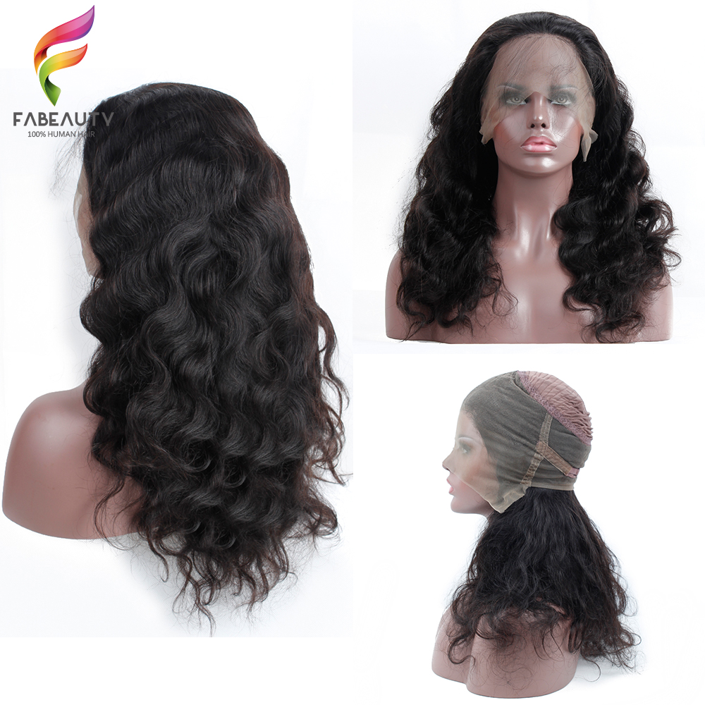 PrePlucked 360 Lace Frontal Wig With Baby Hair Brazilian Body Wave Lace Front Human Hair Wigs