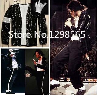 Michael Jackson Billie Jean Kostym Tillbehör MJ Handske / Strumpor / - Maskeradkläder och utklädnad