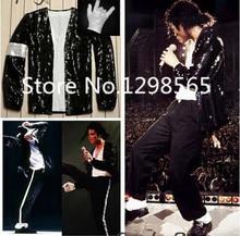 цена на Michael Jackson Billie Jean Costume Accessories MJ Glove/Socks/Jacket/Pant any size