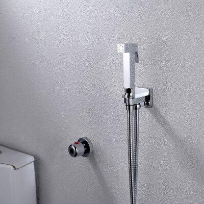 Термостатический ручной Туалет биде кран гигиены Личная Чистка Shattaf опрыскиватель душ комплект роскошный ванная душевая головка - Цвет: A2008D