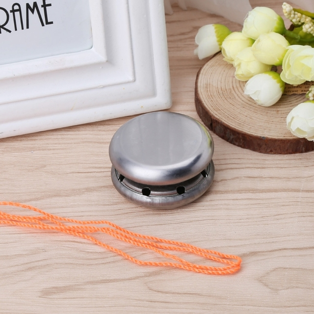 2017  Preety Professional Magic Stainless Steel Silver Round Yo-Yo Ball Toys With String Gift MAY12_35