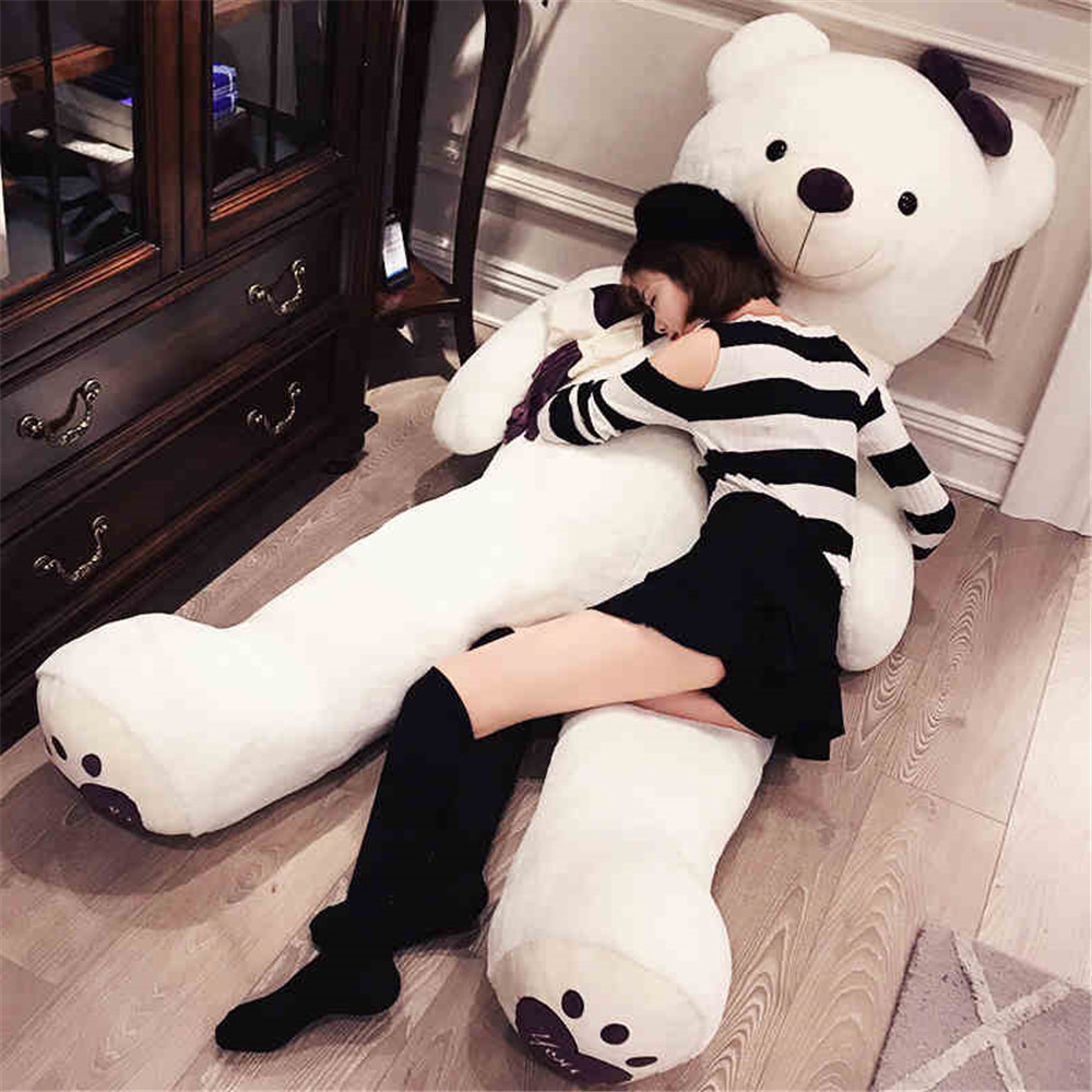 Fancytrader Huge Giant Love Teddy Bears Plush Toys Gifts for Girls Soft Big Stuffed Bears Doll Christmas Valentine's Day fancytrader big giant plush bear 160cm soft cotton stuffed teddy bears toys best gifts for children