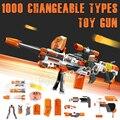 1000 Изменчива Сочетание Большой Пулеметы Вспышки Пены EVA Электрический Пистолет Compitable с Nerf Мягкие Пули Игрушки Мальчики Собрать