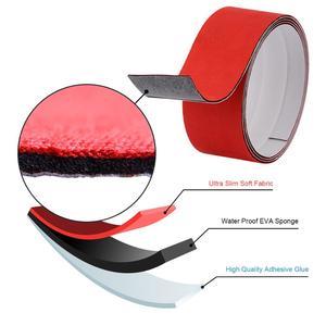 Image 1 - Foshio protetor de pano para janela, película de fibra de carbono à prova dágua com 3 camadas 100cm para raspar tinta e tecido, envoltório de carro feltro de feltro