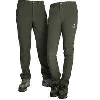 Freeshipping Winter Sport Polartec Outdoor Ski Softshell Pants Men Fishing waterproof hiking Trousers Pants women
