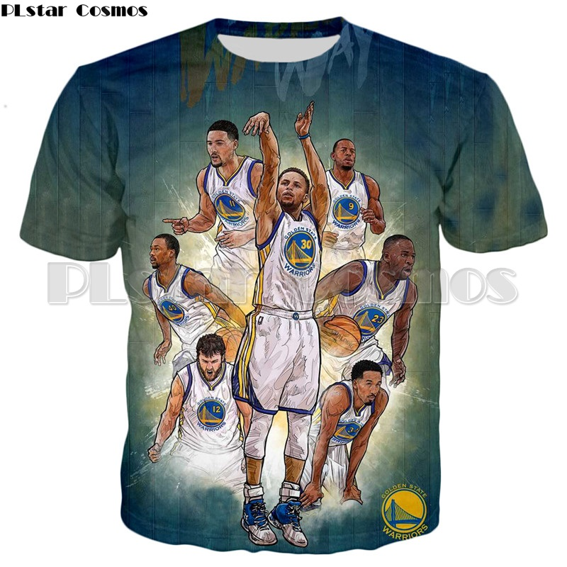 PLstar Cosmos Mens Summer Camiseta Warriors Curry 3d T shirt Men Casual Tops Stephen Curry T shirts Mens T shirt Clothing in T Shirts from Men 39 s Clothing