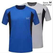 Free Shipping--2015 Terwsunsky News HQ Mens Outdoor Quick-drying Short-sleeve Running Hiking T-shirt T003