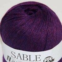 Sale Super Soft Pure Sable Cashmere Wrap Shawls Hand Knit Wool Crochet 50grx1 243 Yarn A2