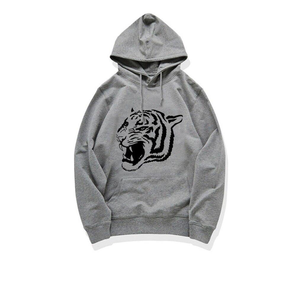 VVTS Men Women's Fashion Hoodies Unisex Tiger Printed Long Sleeve Sweatshirt Pullover Tops Kangaroo Pocket Plus Size S-4XL
