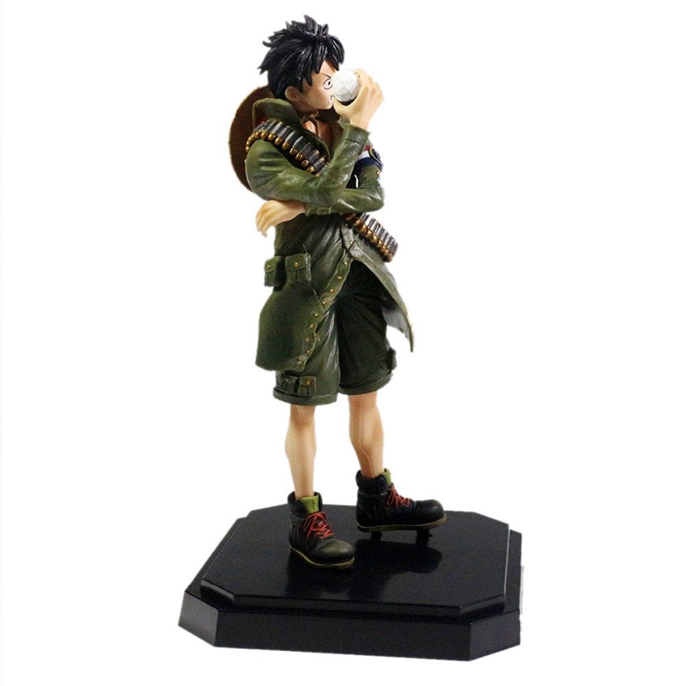 One Piece Anime Luffy Military Style 8.3 Figure Free Shipping