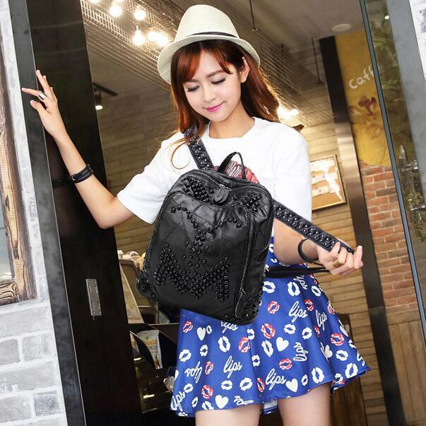 Sac newhotstacy 111416 femmes nouveau sac à dos en cuir véritable mode double sac à bandoulière - 6