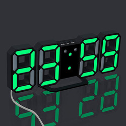 Saat Table 3d Digital Clock Alarm Snooze Home Room Decal Gifts Alarm Clock Modern Digital LED Table Clock Watches 24 Or 12-Hour