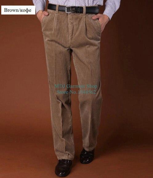 BIG Size L-4XL High Quality Fashion Men Corduroy Trousers Straight Loose Casual Pants Mens Business Suit Pants Pantalones Hombre