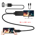 5 Pins or 11 Pins Micro USB MHL to HDMI HDTV Cable Adapter Compatible for all supports MHL function Tablet PC and Android phone