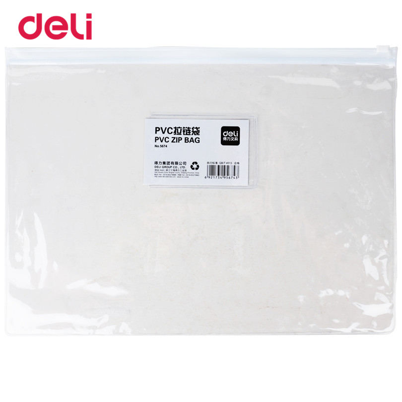 Deli Waterproof School File Folder Practical Size A6 Bundles Closure Learning Office Presentation Folder For Business Supplies