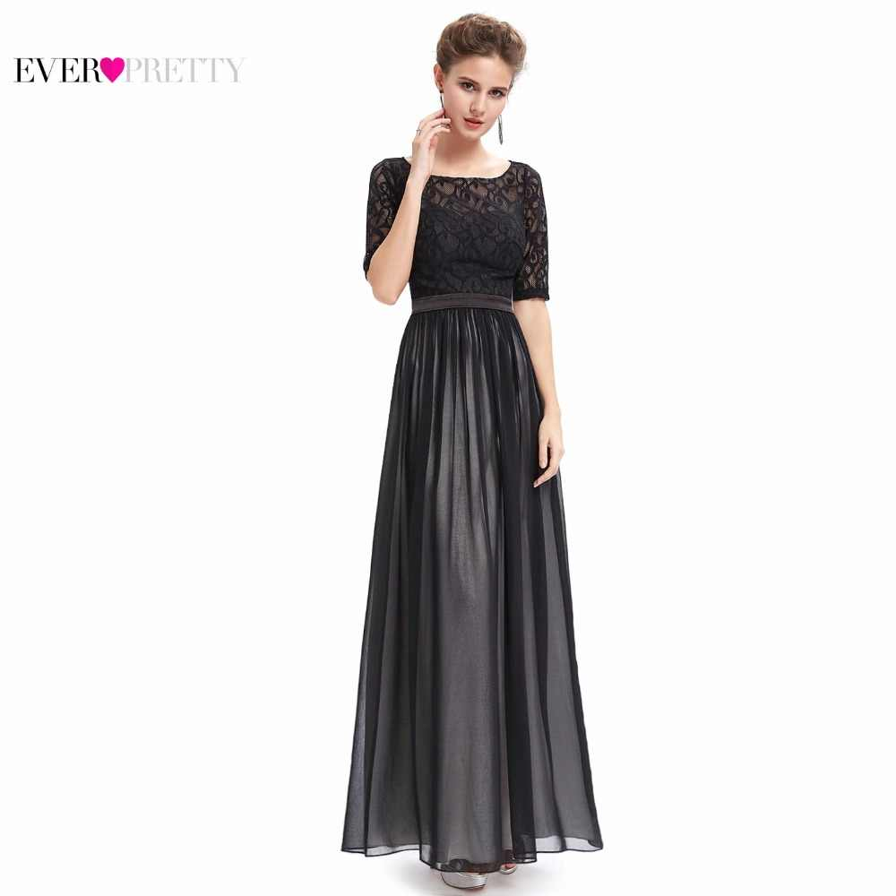 Clearance Sale  Evening Dresses HE09991 Ever Pretty 2017 Gorgeous Special  Occasion Half Sleeve Black 3c6589ad0521
