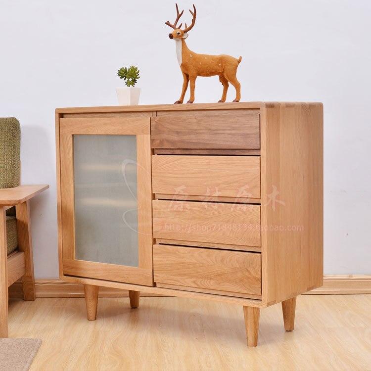 Nordic Japanese Oak Dining Room Furniture White Oak Solid