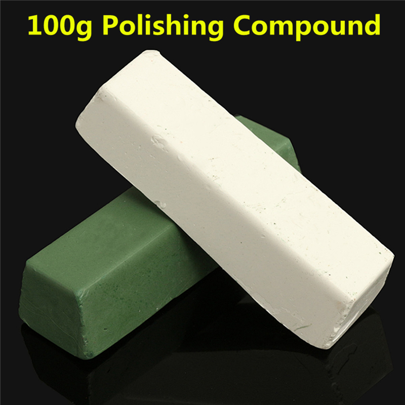 2PC 100g Polishing Paste/Wax Polishing Compounds For High Lustre Finishing On Steels Hard Metals Durale Quality White & Green