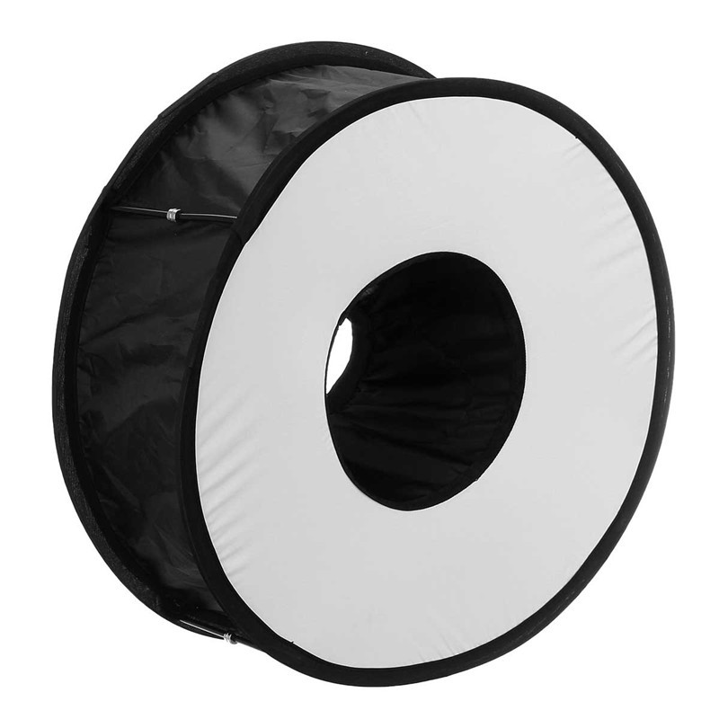 Anillo Softbox para la luz del Flash SpeedLite 45 cm plegable Difusor Macro disp