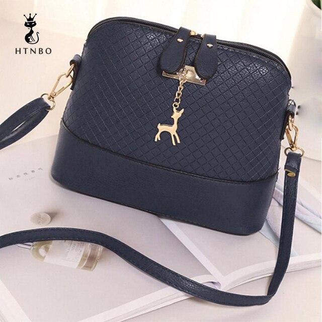 Women s Handbags Leather Bag Ladies Fashion Deer Toy Shell Small bolsa  feminina Soft Clutch Solid Bags 47dbe0645a367