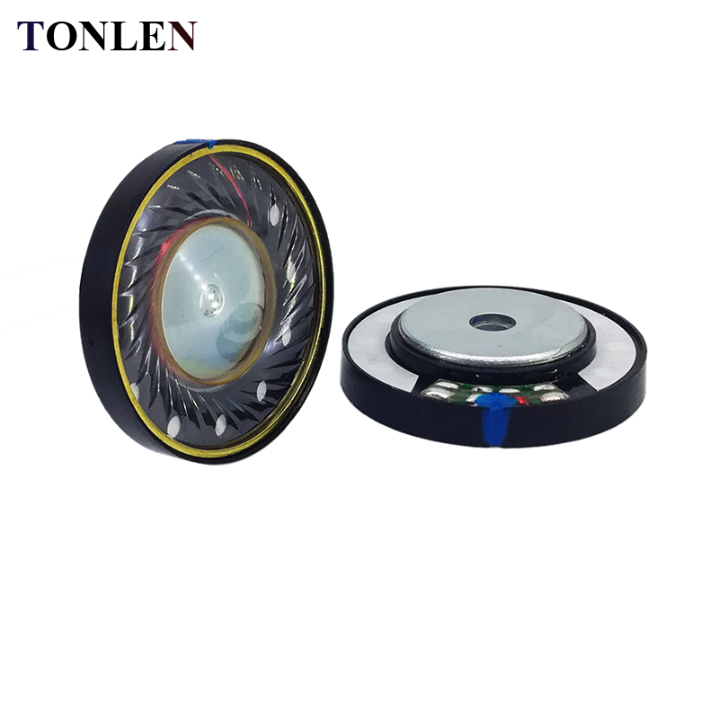 TONLEN 2 PCS 40mm 16 ohm HIFI Headphone Headset Speaker Tanduk DIY Stereo Nirkabel Bluetooth Headset 0.05 W Headphone Tanduk
