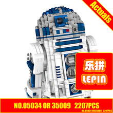 Star wars LEPIN 35009 2137Pcs R2-D2 Model Building blocks LEPIN Blocks Bricks Toy Compatible With Gift 10225