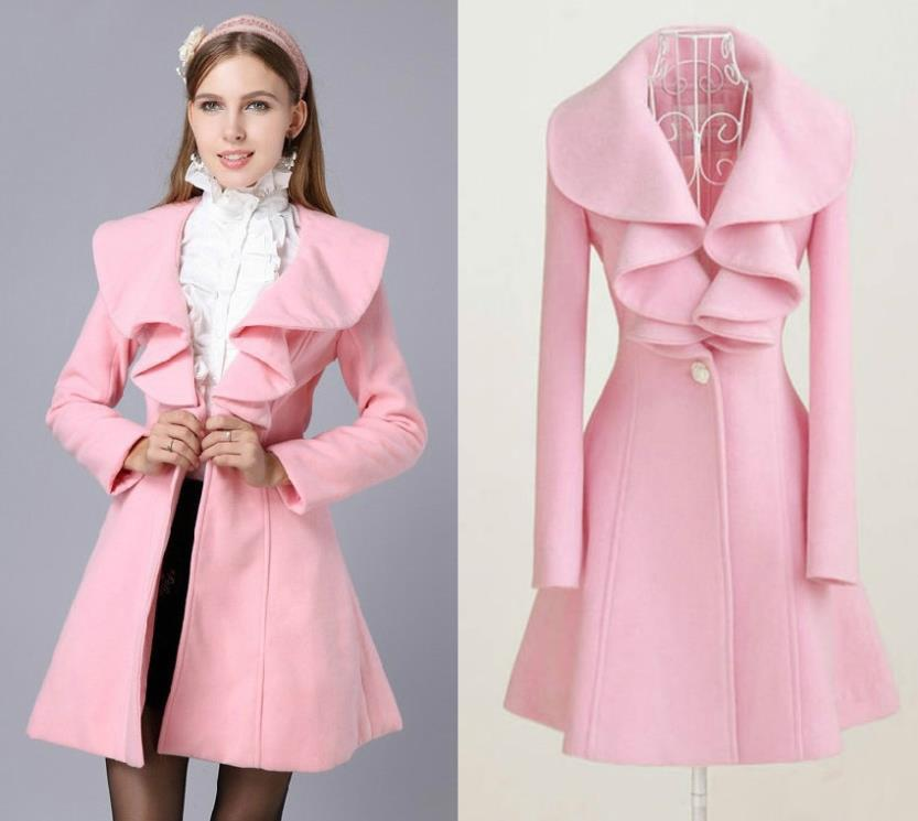 Online Buy Wholesale pink dress coats from China pink dress coats ...