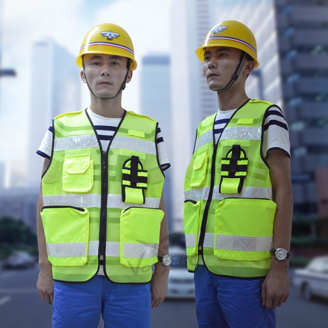 Reflective Cycling Vest with Waterproof Oxford Fabric and Prismatic PVC Reflective Tape for Road Safety Free shipping