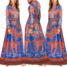 India Indian Sari 2018 Cotton Polyester Couture T-shirt Long Sleeved Print  Dress f64fc73ded2b