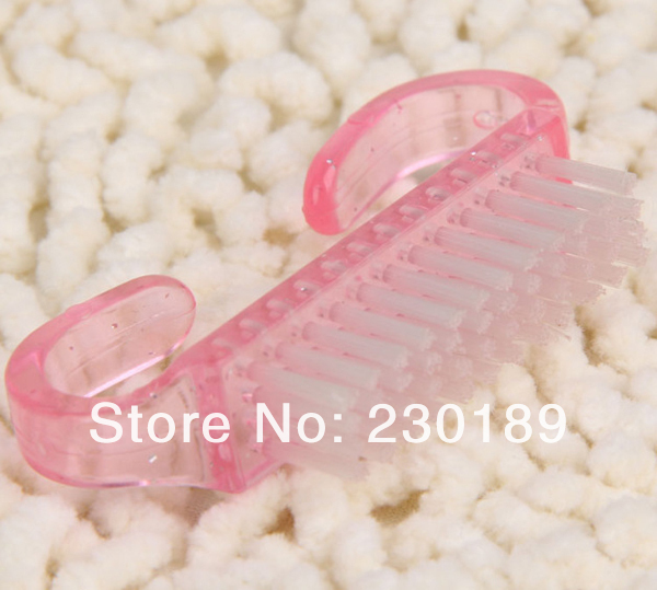 Pink Nail Cleaning Clean Brush Tool Manicure Care Manicure Pedicure, Dust Small Angle Nail Brush